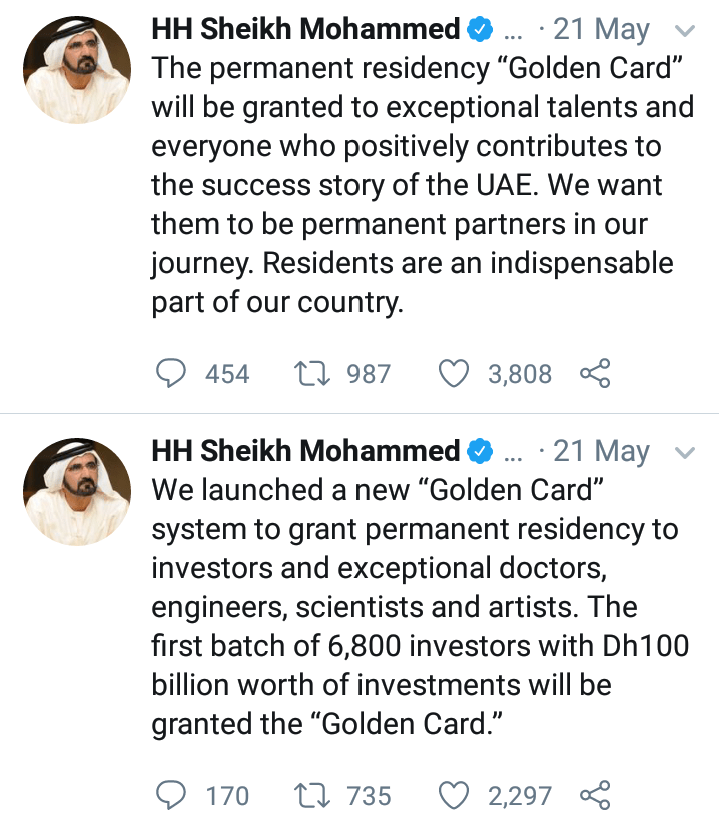 How To Get UAE Golden Card